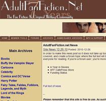 Adult Fan Fiction. The fan fiction & original writing community.